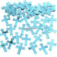 Glittrande bordskonfetti med blå kors 14 g