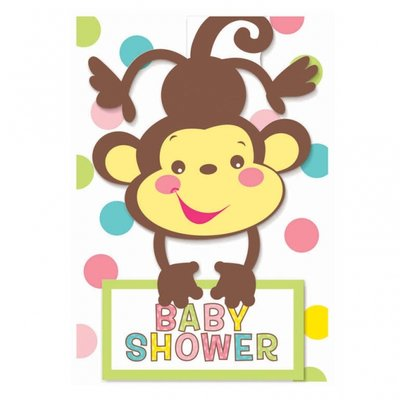 Fisher Price Babyshower inbjudningskort - 8 st