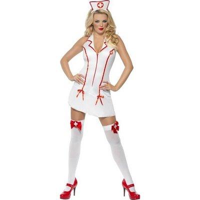 Sjuksköterska maskeraddräkt halterneck