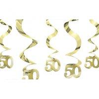 50-års jubileum hängande virvlar - 5 st