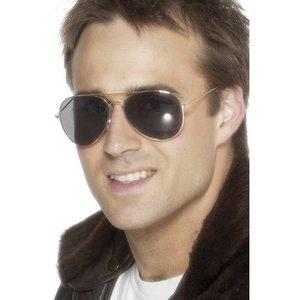Pilotsolglasögon - guld