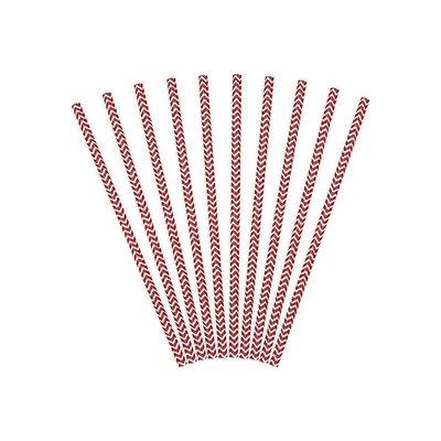 Papperssugrör med chevronmönster - Flera olika färger 19,5 cm 10 st