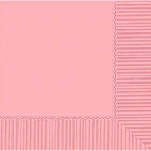 Ljusrosa papperservetter