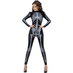 Skelett 3D-imitation - maskeraddräkt