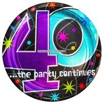 Papperstallrikar till 40-årsdagen - The party continues