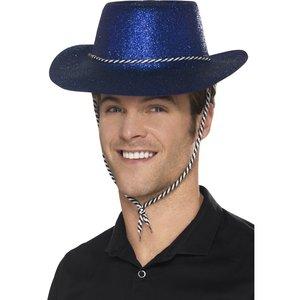 Cowboy Glitterhat Blå