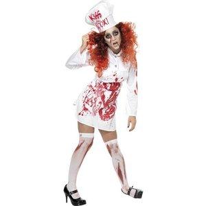 Kvinnlig slaktare blodigt förkläde - Medium
