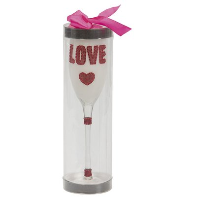 Champagneglas vitt - Love