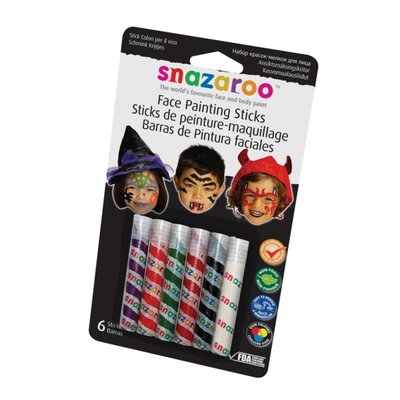 Snazaroo kritor till ansiktsmålning halloween - 6 st