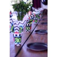 Partymuggar 30-års födelsedag i papper 255ml - 8 st