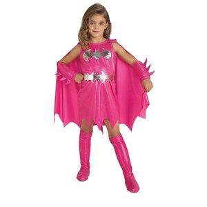 Rosa Batgirl maskeraddräkt för barn