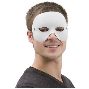 Half face ögon mask -vit