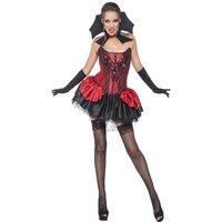 Förförisk vampyr maskeraddräkt - röd & svart