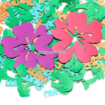 Bordskonfetti hawaiska luau blommor - 14 g