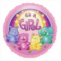 Folieballong - Zoo Baby Girl 45 cm