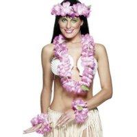 Hawaii girlang set - rosa