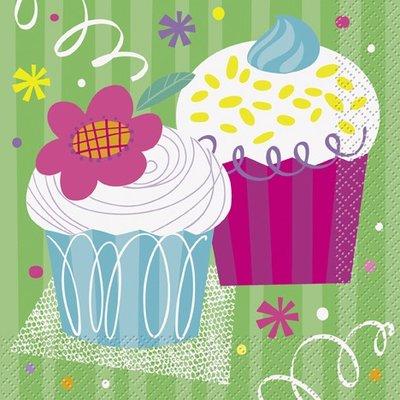 Happy birthday cupcakes - Servetter 16 st