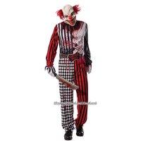 Ondskefull Clown maskeraddräkt - Vuxen