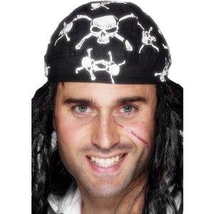 Pirat bandana - svart & vit