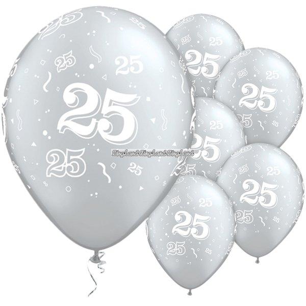 25 års ballonger