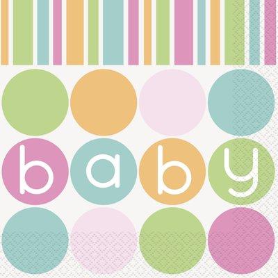 Servetter - Baby shower pastel 16 st