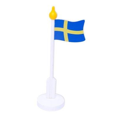 Bordsflagga SE Trä 24 cm