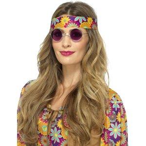 Hippie glasögon - Lila