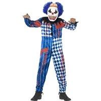 Deluxe Elak clown maskeraddräkt