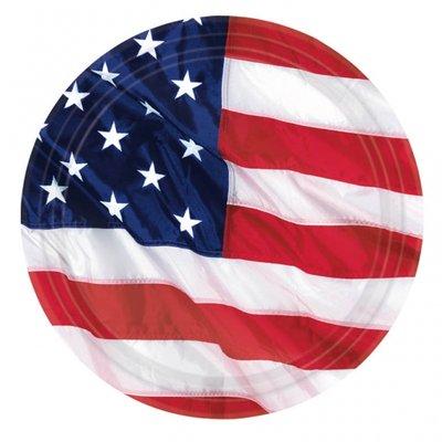 Amerikanska flaggan - papperstallrikar 26,6 cm - 8 st