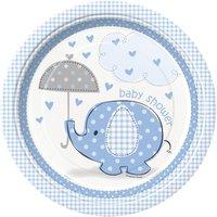 Tallrikar - Baby shower blå - 23 cm 8 st