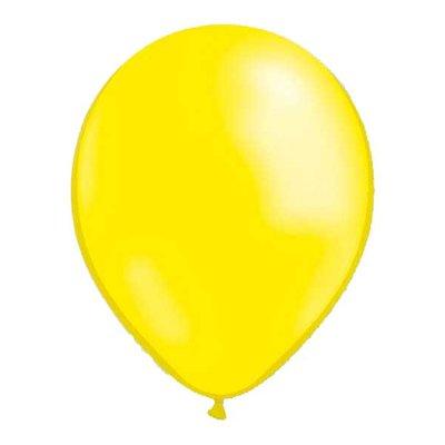 Latexballonger - Metallic Ljusgula