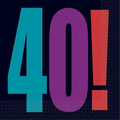 40-års servetter 16 st