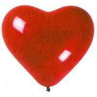 Latexhjärtan - Röda