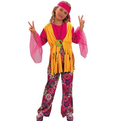 Hippie - maskeraddräkt barn tjej