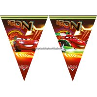 Disney bilar neon - banderoll vimplar - 2m