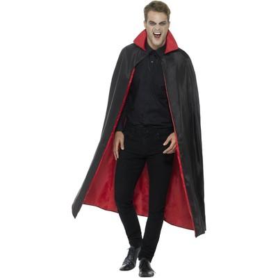 Reversibel vampyrmantel - Röd/svart