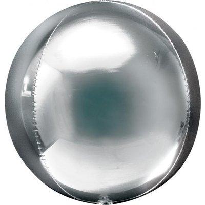 Folieballong- Orbz Silver