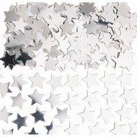 Stardust konfetti till bord/inbjudningar - silver - 14 g