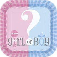 Papperstallrikar - Pojke eller flicka 8 st