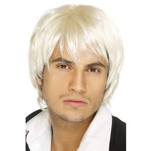 Peruk pojkband blond