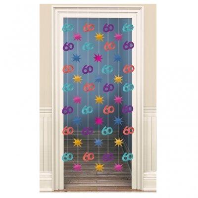 60-års dörrdraperi - 2 m x 0.9 m