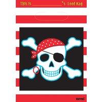 Piratpartypåsar - 8 st