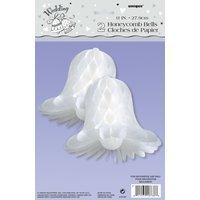 Honeycomb wedding bells - 28 cm 2 st