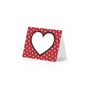 Placeringskort - Hjärtan 6 st
