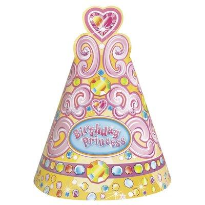 Partyhattar - Birthday princess 8 st