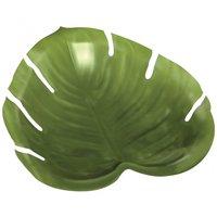 Uppläggningsfat djungel blad i plast