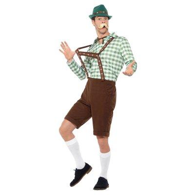 Oktoberfest man maskeraddräkt - Grön- Medium