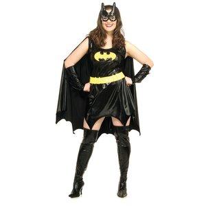 Plus size Batgirl dräkt