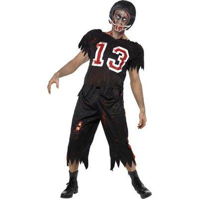 Amerikansk fotbollsspelare zombie maskeraddräkt