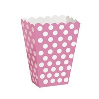 Rosa prickiga popcornbägare - 8 st